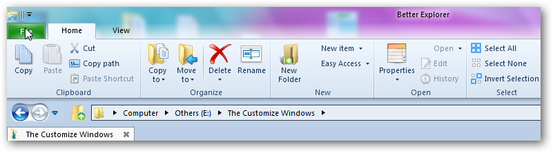 Windows 8 ribbon in windows 7