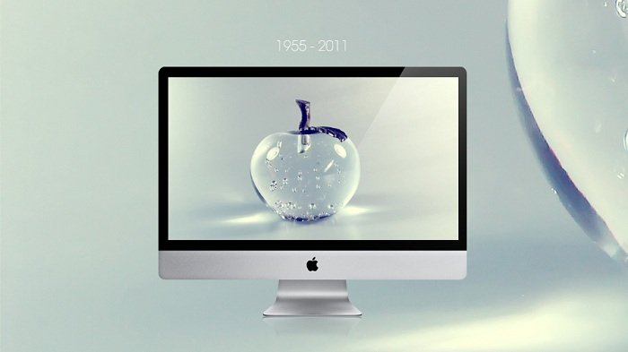Glass Apple Wallpaper - Steve Jobs RIP Version