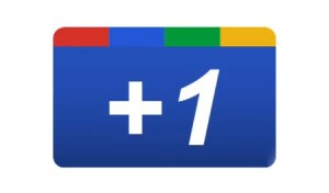 Google Plus One Sticker