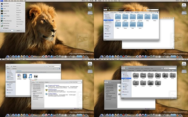 Mac OS Lion Windows 7 Theme
