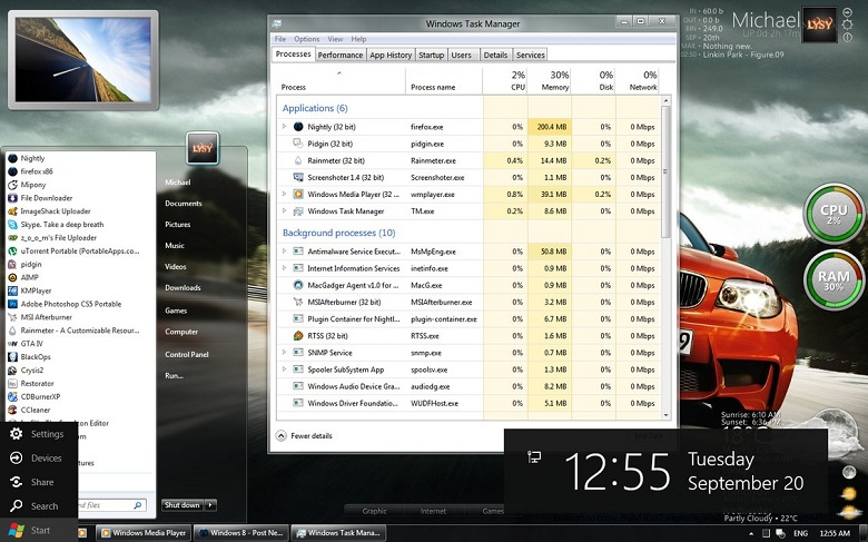 Metro Cheat for WDP the tool to enable old start menu in Windows 8