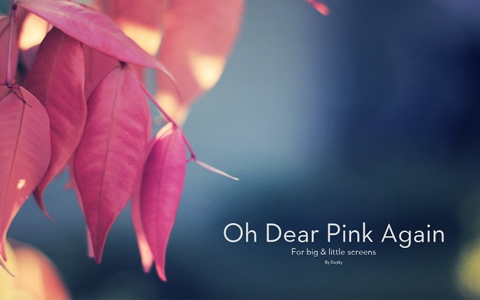 Pink Leaf Wallpaper
