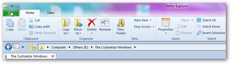 Windows 8 ribbon in windows 7