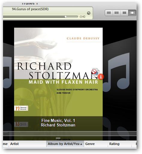 Flipping album covers iTunes Windows 7