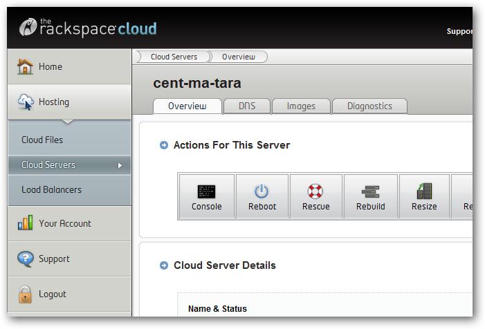 Rackspace Cloud Server