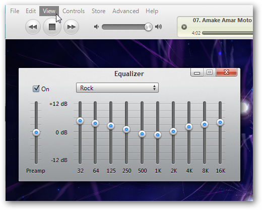 iTunes Equalizer
