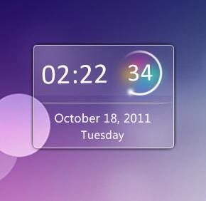 Aero Clock Widget