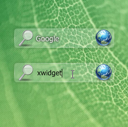Aero Search Bar Widget for XWidget
