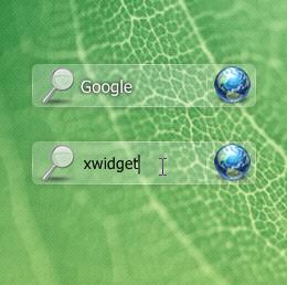 Aero Search Bar Widget for XWidget