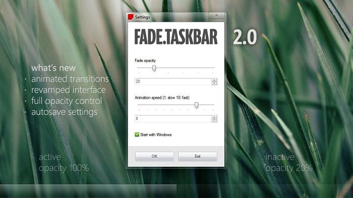 Fade Taskbar