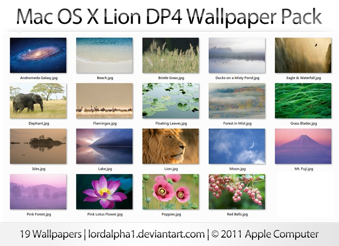Mac OS X Lion DP4 Wallpapers