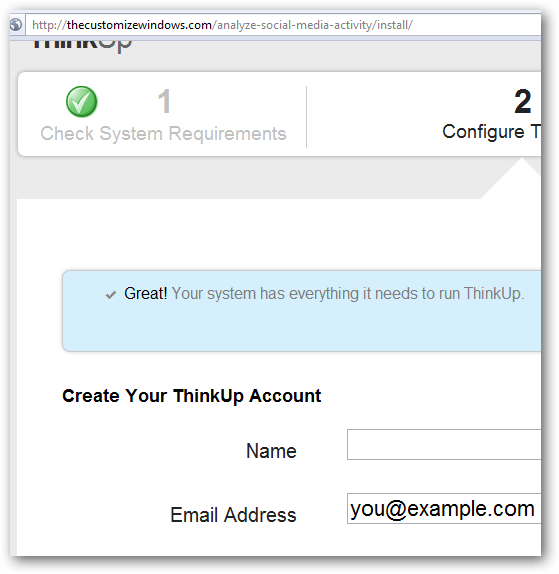 Store, Analyze your Online Social Activity with ThinkUp