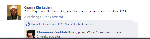 Gaddafi Facebook