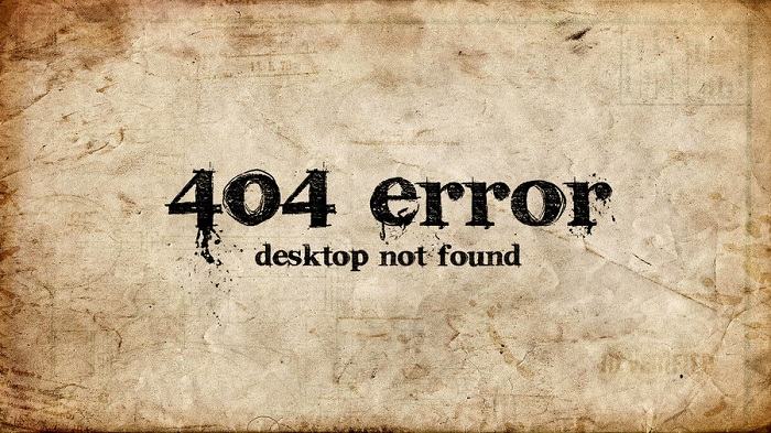 404 Error Desktop Not Found Grunge Wallpaper