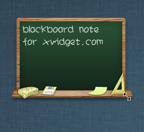 Blackboard Style Note Widget for XWidget