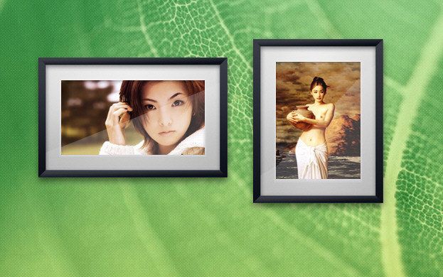 Realistic Wooden Photo Frame Slide Show Widget