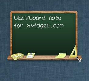 Blackboard Style Note Widget for XWidget