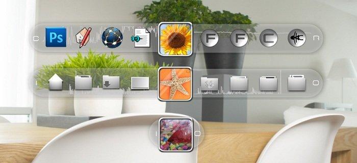 Glass Slider Launch Widget for xWidget