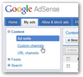 AdSense Channels