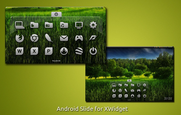 Android Slider Style Launcher Widget