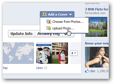 Facebook Timeline upload
