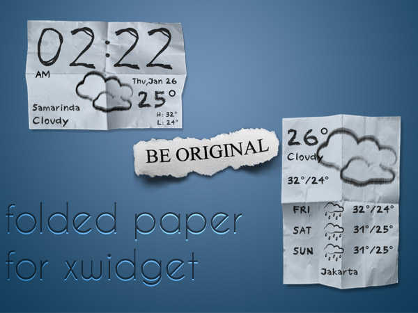 Folded Paper Weather Widget