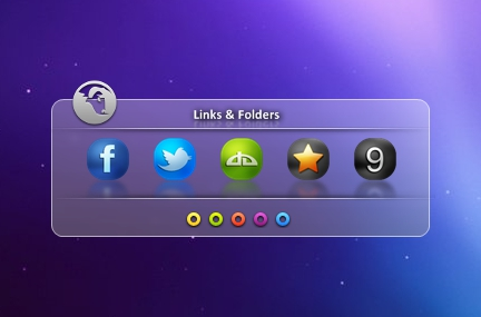 Glassy Icon Link Widget for Windows PC