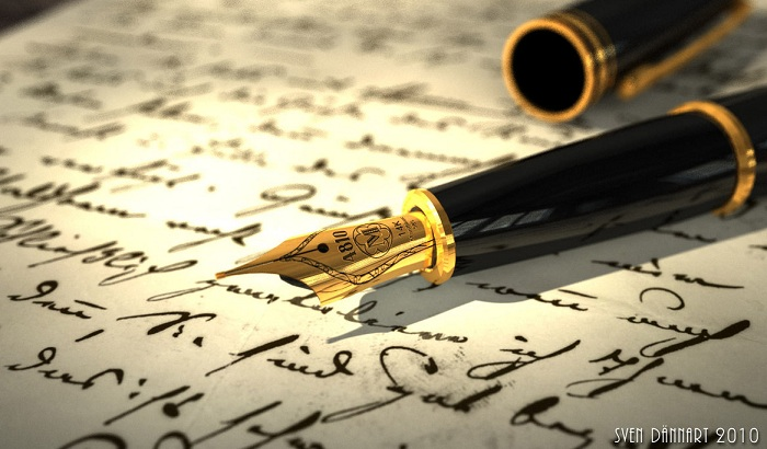 Gold Nib Fountain Pen Wallpaper