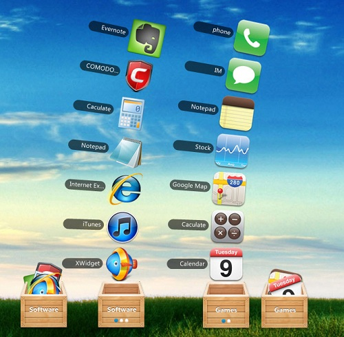 Mac Stacks Look Alike Widget