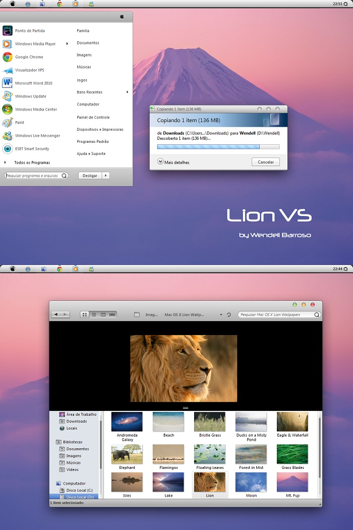 Windows 7 Theme Lion VS