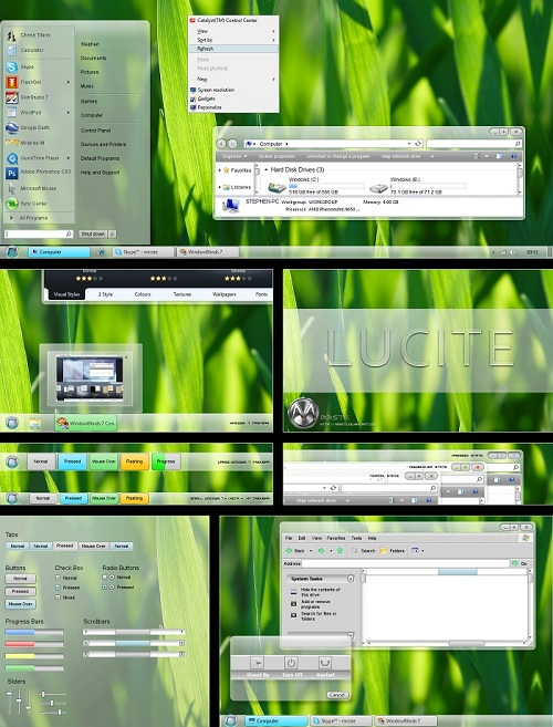 Windows 7 Theme Lucite