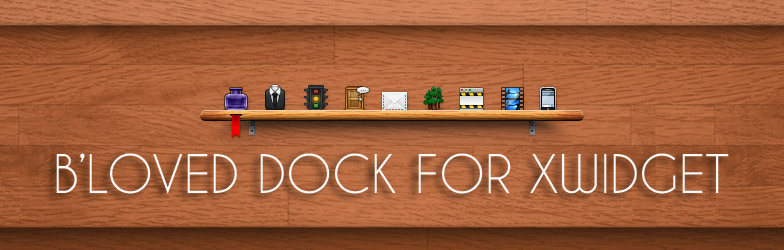 Wooden Shelf Dock Widget