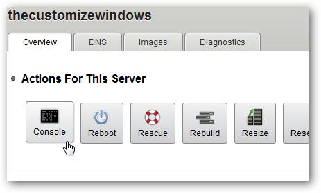 rackspace cloud server options