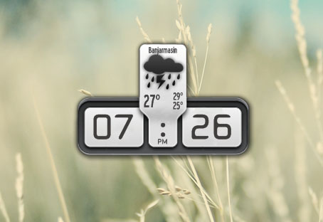 Plain Clock and Weather Widget