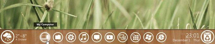 Windows 8 Metro Like Taskbar Widget wooden