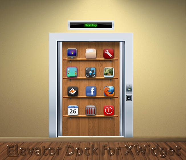 Elevator Dock Widget for XWidget