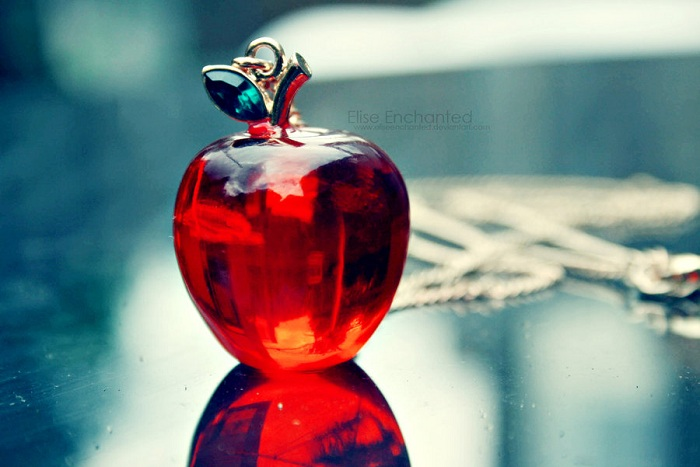 Glass Red Apple Wallpaper