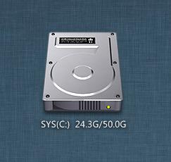 Mac Style Hard Disk Widget-1