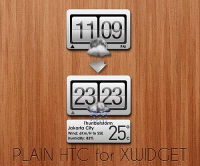 Plain HTC Weather Widget for Windows 7 PC