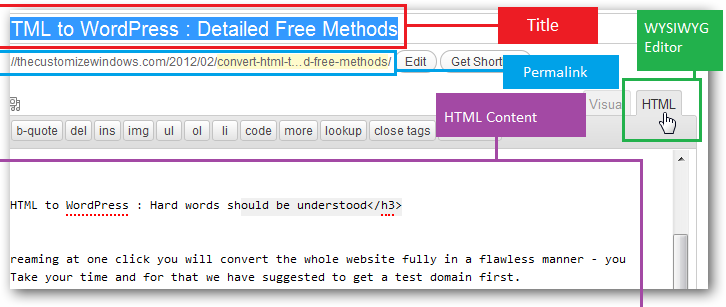 Convert HTML to WordPress Free Methods