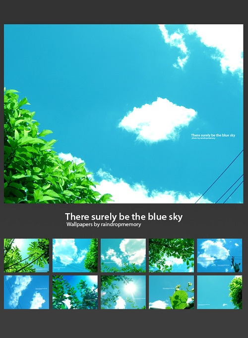 Surely be the blue sky Wallpaper Pack