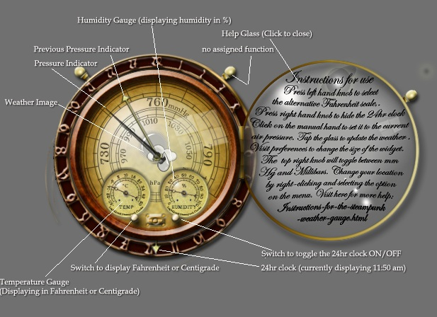 Steampunk Weather Gauge
