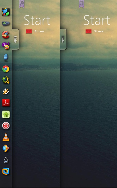 Ubuntu Style Sleek Sidebar Widget for Windows PC
