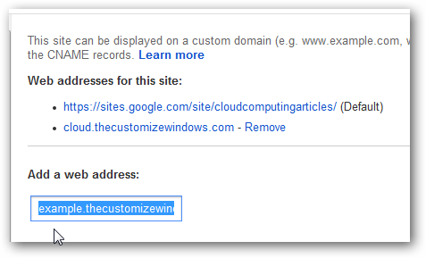 google custom domain