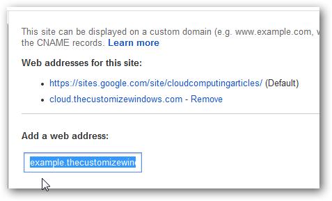google custom domain
