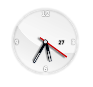 Glass Clock Widget