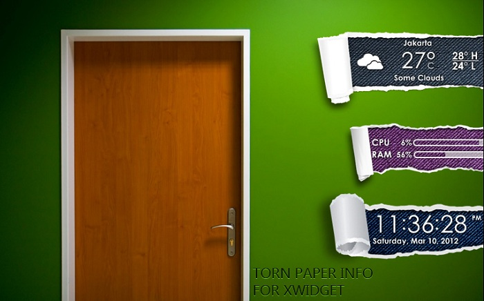 Torn Paper Info Widget