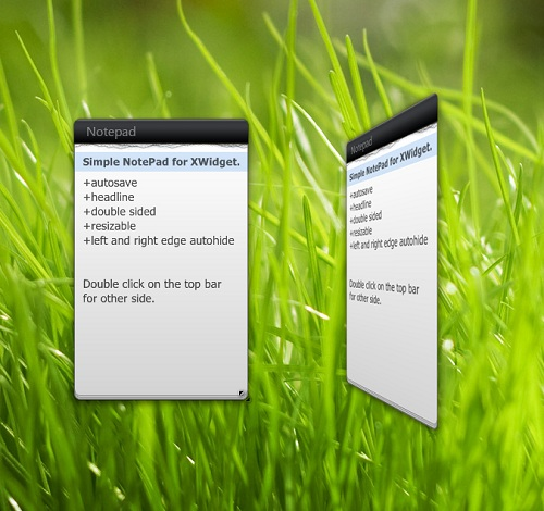 Dual Side NotePad Widget