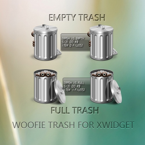 Funny Metallic Recycle Bin Widget