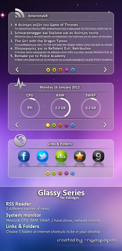 Glassy Series Widget